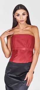 Czerwona bluzka Fokus bez rękawów