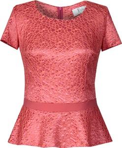 Bluzka Fokus z okrągłym dekoltem z krótkim rękawem