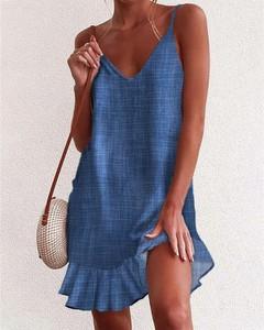 Sukienka Kendallme z odkrytymi ramionami z dekoltem w kształcie litery v mini