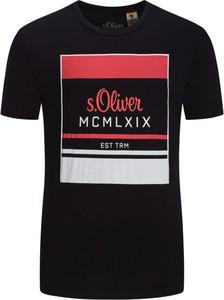 T-shirt S.Oliver z nadrukiem z krótkim rękawem