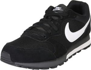 Czarne buty sportowe nike sportswear sznurowane z zamszu