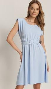 Niebieska sukienka Renee bez rękawów