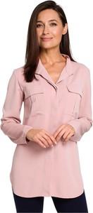 Różowa koszula Style w stylu casual