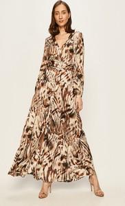 Sukienka Guess by Marciano z długim rękawem z tkaniny maxi