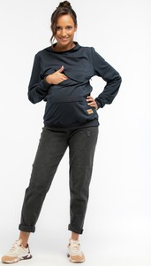 Granatowa bluza Que z dresówki