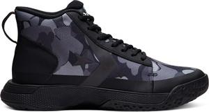 Granatowe buty sportowe Converse z nubuku sznurowane