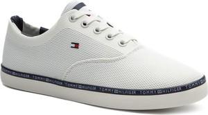 3ef8b56b168d0 Tenisówki TOMMY HILFIGER - Essential Modern Mesh Vulc FM0FM02271 White 100
