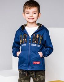 Ombre clothing bluza dziecięca rozpinana z kapturem kb019 - ciemnogranatowa