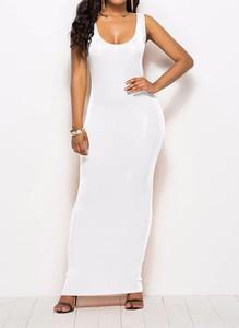 Sukienka Arilook z okrągłym dekoltem maxi ołówkowa