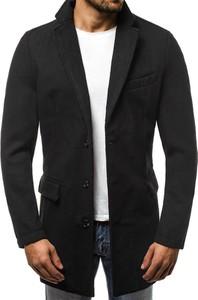 Czarny płaszcz męski J.BOYZ w stylu casual