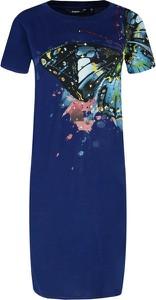 Niebieska sukienka Desigual w stylu casual