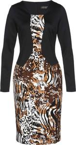 Sukienka bonprix bpc selection z dżerseju z okrągłym dekoltem dopasowana