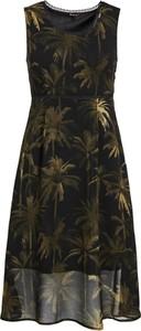 Sukienka khujo z szyfonu z okrągłym dekoltem