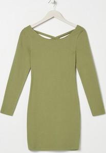Zielona sukienka Sinsay z długim rękawem w stylu casual mini