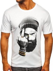T-shirt Denley z nadrukiem z bawełny