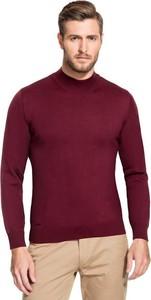 Fioletowy sweter Giacomo Conti z wełny
