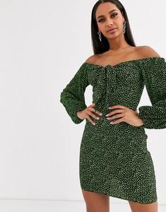 Sukienka Asos Design mini z długim rękawem