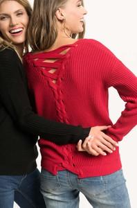 Czerwony sweter ORSAY w stylu casual