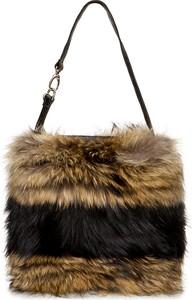 Brązowa torebka Gena na ramię w stylu glamour średnia