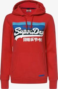 Czerwona bluza Superdry z dresówki
