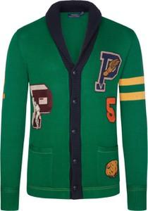 Zielony sweter POLO RALPH LAUREN w młodzieżowym stylu z bawełny