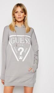 Sukienka Guess prosta z dresówki w stylu casual