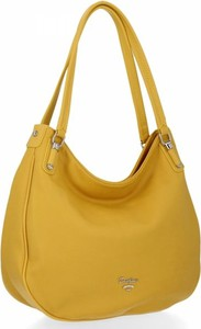 Żółta torebka David Jones na ramię