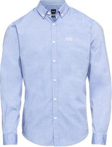 Niebieska koszula Boss w stylu casual z kołnierzykiem button down