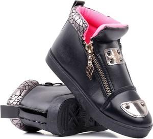 Czarne buty dziecięce zimowe Yourshoes