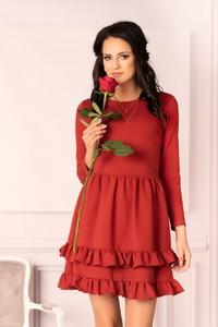 Sukienka MERRIBEL z długim rękawem z bawełny mini