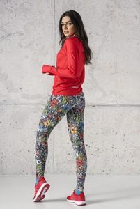 Bluzka Nessi Sportswear z długim rękawem z okrągłym dekoltem z dzianiny