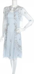 Niebieska sukienka Frock And Frill z okrągłym dekoltem