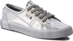 Tenisówki pepe jeans - aberlady met 18 pls30587 silver 934
