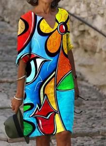 Sukienka Arilook mini z bawełny w stylu casual