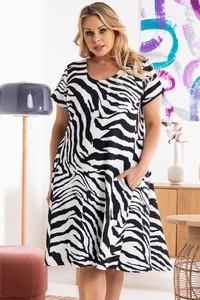 Sukienka KARKO mini w stylu casual z dzianiny