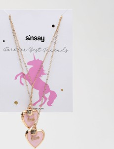 Sinsay - Zestaw naszyjników dla przyjaciółek BFF - Wielobarwny