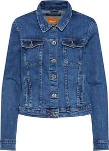 Niebieska kurtka Only w stylu casual z jeansu