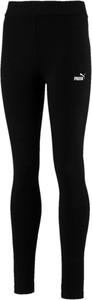 Czarne legginsy dziecięce Puma z bawełny