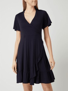 Sukienka Esprit z dekoltem w kształcie litery v z krótkim rękawem mini