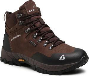 Buty trekkingowe Bergson sznurowane ze skóry