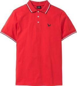 Koszulka polo bonprix bpc bonprix collection z bawełny z krótkim rękawem