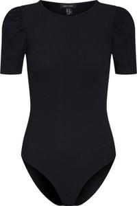 Czarna bluzka New Look z krótkim rękawem z okrągłym dekoltem