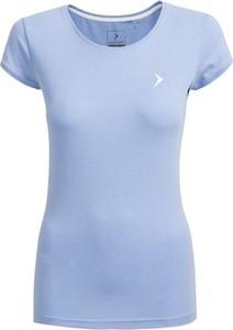 Niebieski t-shirt Outhorn z bawełny