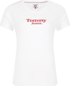 T-shirt Tommy Jeans z okrągłym dekoltem z krótkim rękawem