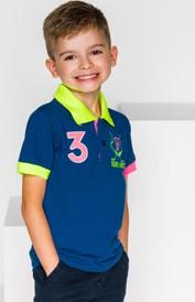 Granatowa koszulka dziecięca Ombre Clothing z bawełny