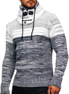 Granatowy sweter Denley