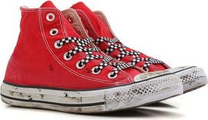 Czerwone trampki Converse sznurowane w stylu casual 61a6745f89fe9