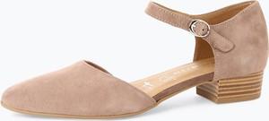 Sandały Tamaris z weluru na obcasie