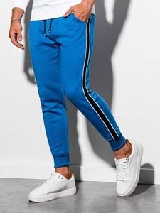 Niebieskie spodnie sportowe Ombre