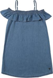Niebieska sukienka dziewczęca Cars Jeans z bawełny